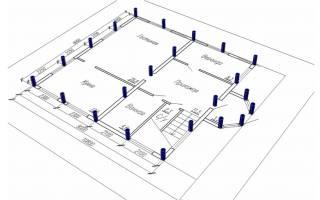 Свайный фундамент расчет количества свай под каркасный дом