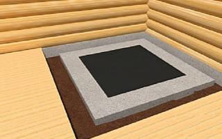Фундамент для печи из кирпича своими руками схема и размеры