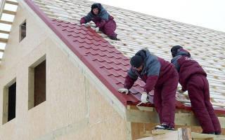 Укладка металлочерепицы на двухскатную крышу для непрофессионалов