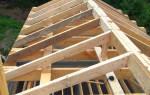 Как самому сделать двухскатную крышу?