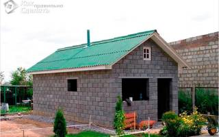 Строительство бани своими руками из шлакоблоков от фундамента до крыши