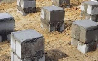 Столбчатый фундамент из блоков 20х20х40 своими руками для бани 6х6