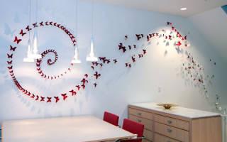 Декор стен подручными материалами