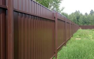 Сколько нужно прожилин на забор высотой 2 метра из профнастила