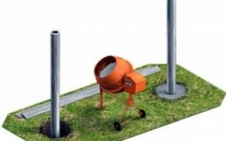 Установить столбы для забора на даче