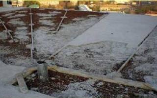 Разуклонка крыши из песка
