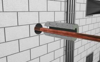 Прокладка стальных труб отопления через фундамент здания и их заделка