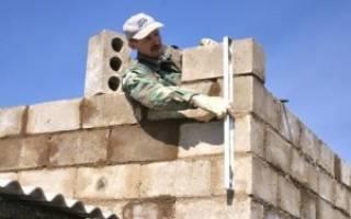 Строительство дома из шлакоблока своими руками от фундамента до крыши