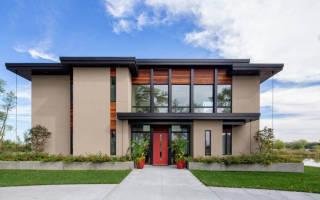 Проекты одноэтажных домов в стиле хай тек с плоской крышей