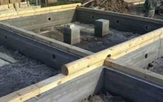 Какой фундамент лучше для дома из бревна в 2 этажа?