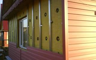 Утепление дома с фасада из сайдинга