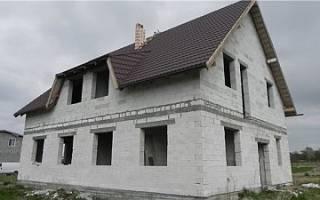 Крыша двухскатная для полумансарды