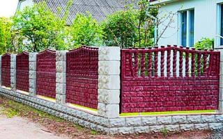 Форма для производства заборов из бетона