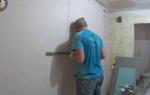 Можно ли приклеить гипсокартон к стене на плиточный клей?