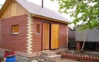 Строительство кирпичной бани своими руками от фундамента до крыши