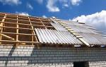 Как правильно покрыть односкатную крышу шифером?