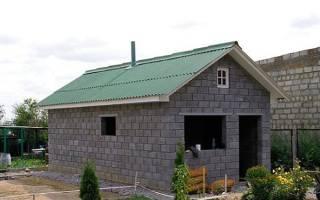 Строительство бани из блоков своими руками от фундамента до крыши