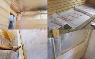 Какой стороной стелить пароизоляцию на потолок в бане?