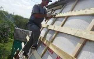 Установка обрешетки на крыше
