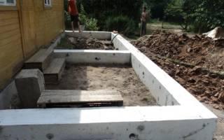 Фундамент для веранды к дому своими руками пошаговая инструкция