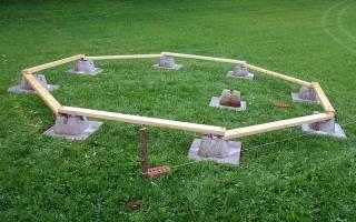 Какой фундамент лучше для беседки на почве с грунтовыми водами?