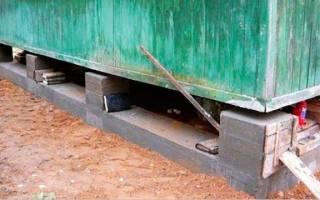 Просел фундамент под домом из панелей домом как исправить
