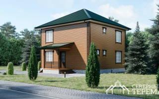 Проекты домов из бруса 8 на 8 двухэтажный с фундаментом