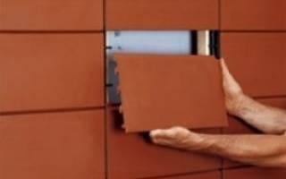 Описание керамической фасадной плитки