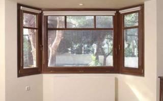 Пластиковые окна с одной стороны коричневые с другой белые