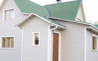Уголки металлические для обшивки дома крыша зеленая стены желтые