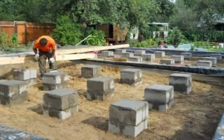 Столбчатый фундамент из бетонных блоков своими руками для каркасного дома