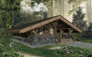 Проекты бань в стиле хай тек с плоской крышей