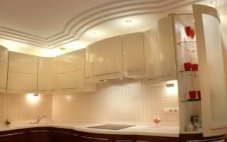 Потолок из гипсокартона на кухне с подсветкой своими руками