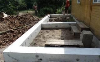 Фундамент для пристройки к дому с высоким уровнем грунтовых вод