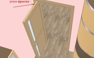 Как уменьшить дверной проем по высоте на 10 см?